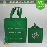 Cheap New Design Promotional Printed Nonwoven Folding Shopping Bag