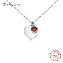 lyn0333 wholesale 2018 new design heart & cz necklace 925 Sterling silver nterchangeable pendant necklace