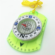 Mini Baseplate Compass Map Scale Ruler Outdoor Camping Hiking Cycling Scouts Military Compass
