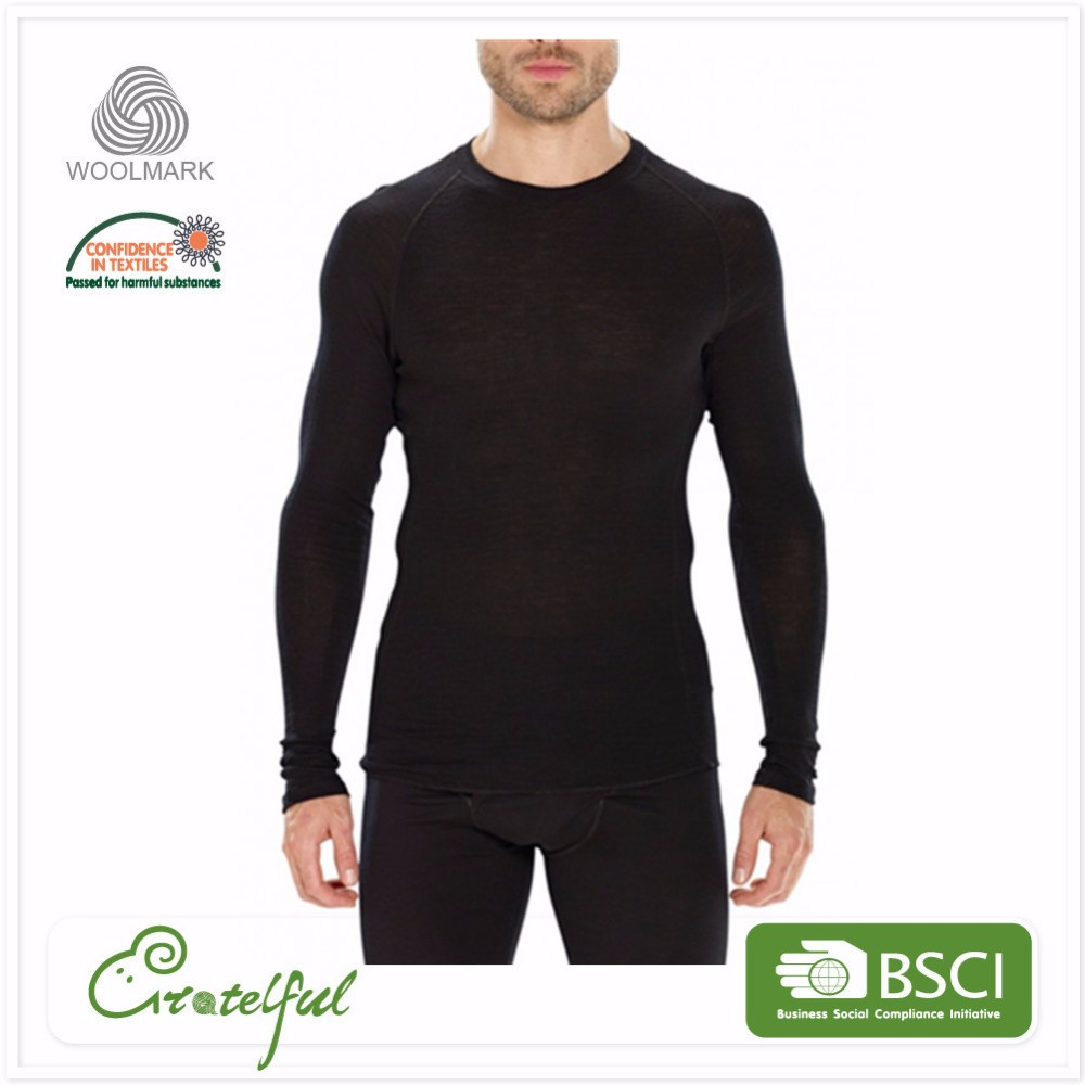 Custom breathable thermal winter wholesale men knitted long johns