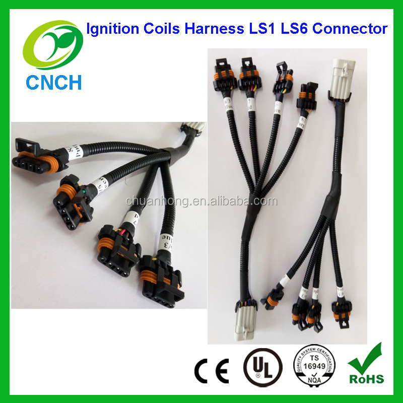 1 x set Ignition Coils Harness LS1 LS6 Connector Pigtail for Relocation GM 4 coil