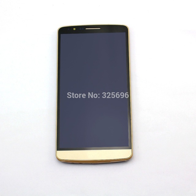 For LG G3 D855 D850 LCD Display Touch Screen Digitizer + Bezel frame Full Assembly + tools , Gold  !!!