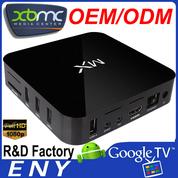 XBMC 12.2 Amlogic 8726 MX Cortex A9 M6 Dual Core MX2 Android tv box ott set top box