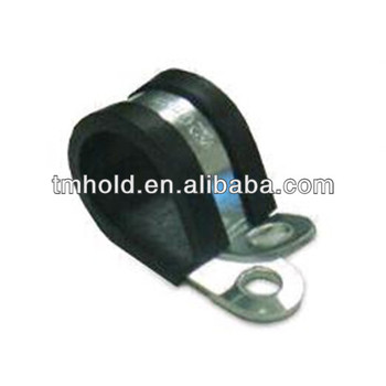 Stainless steel/Galvanized steel Pipe retaining ring hose clips/clamps with rubber for cars