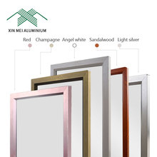 Aluminum Safety 3Mm Stained Crystal Yellow Mirror For Dressing Wardrobe Door