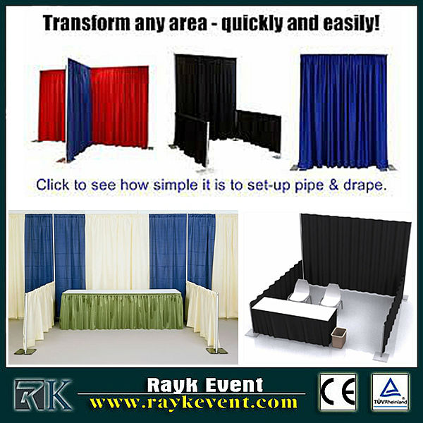 Singapore wholesale cheap photo booth/ event aluminum backdrop stand pipe drape