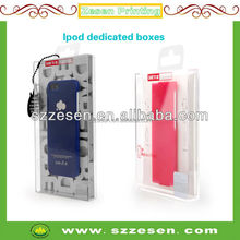 Clear rectangular plastic packaging box for iphone, cell phone case