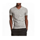 Wholesale striped blank muscle fit men deep v neck t shirt