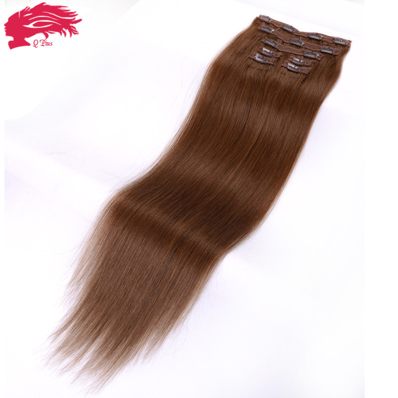 7A Grade Brazilian Hair Clip In Extensions Straight #8 Clip In Human Hair Extensions Clip In Remy Natural Hair Clip Extensions