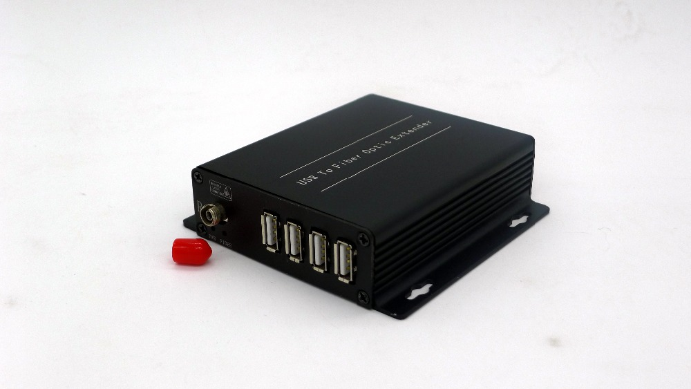 4 fort USB 2.0 extender to fiber optic to remote location 250m over 1 fiber cable for scanners/camera/printer/U disk etc.