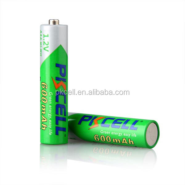 PKCELL or OEM 1.2V NI-MH AAA 600mah pre-charged battery on China Alibaba