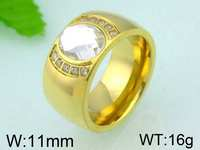 16g 11mm Gold Plated New Model Wedding Ring Women Vintage Ring