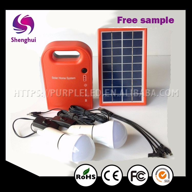 New green energy Outdoor camping 18V Small Solar Lighting Kits, Sunlight soalr power system 3W Portable Solar Power System