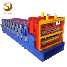 Cold Rolled Steel Roof Hydraulic Rolling Iron Three Layer Sheet Making Glazed Tile Used Roll Forming Machine