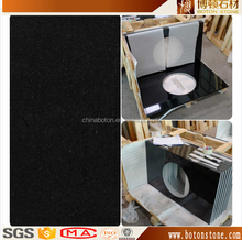 BOTON black solid color granite countertop