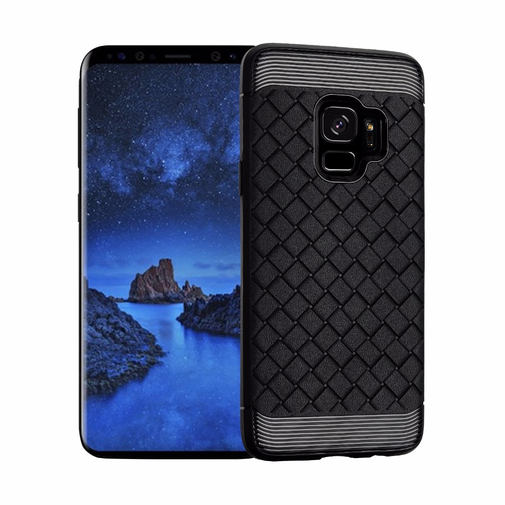 New Design Shockproof Protective Braid Soft TPU Silicon Back Phone Case Cover For Samsung Galaxy S9