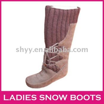 2013 tall snow boot high quality knitted winter boots mukluks