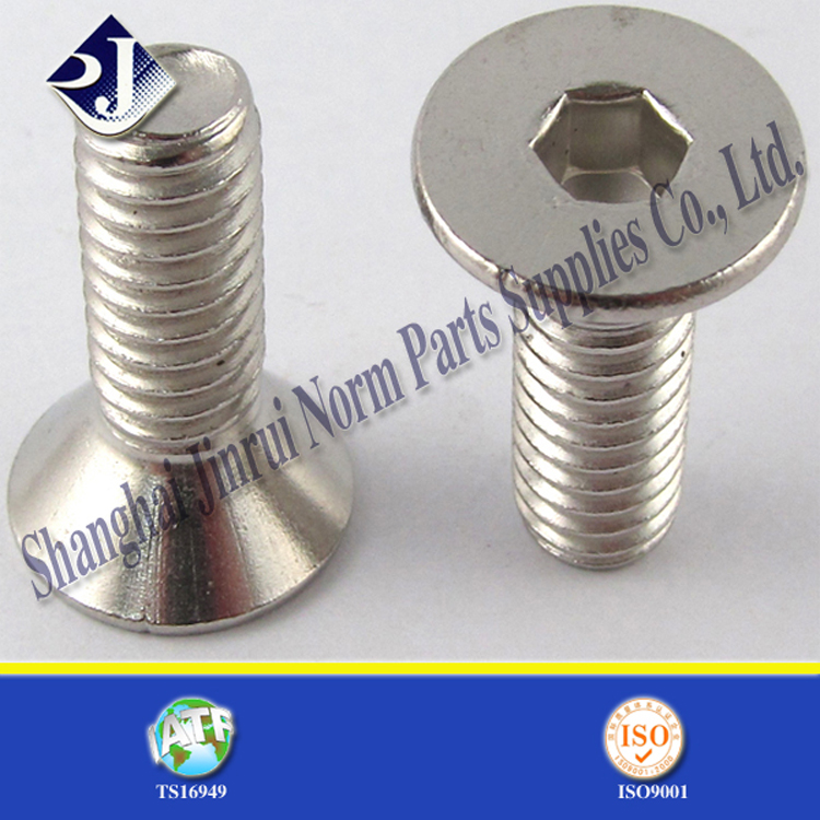 made in china carbon steel zinc plating CSK head allen bolt price