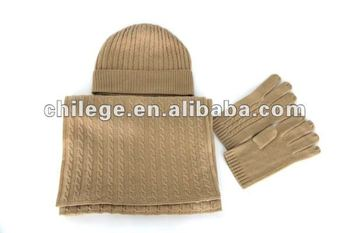 fashion men's cashmere hats,scarves & gloves sets