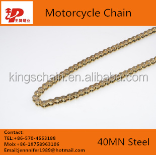Greece motorcycle parts 415 gold motor roller chain