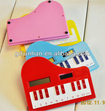 Plastic pocket piano shape mini promotion Calculator