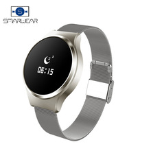 Smart Wristband Stainless Steel wearable devices Smart band Heart Rate Blood Pressure Monitoring fitness tracker Business Watch