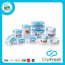 Clip Fresh BPA free lunch box plastic storage container set 11pcs