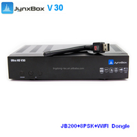Jynxbox Ultra HD V30 FTA Digital Satellite TV Receiver With turbo 8psk JB200 and Wifi adapter Jyazbox for north america