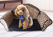 High quality small size pet bed lovely square dog cat bed