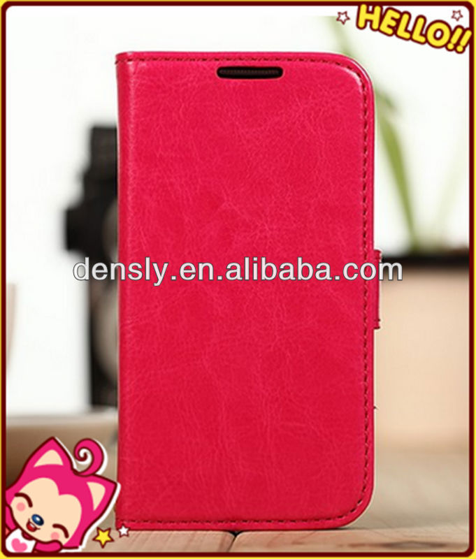 Popular high quality wallet leather leather for s4 mini flip cover, for samsung galaxy s4 leather case