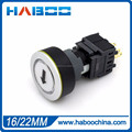 LED switch with laser marking reset or on-off push button switch 2NO+2NC with LED 6V 12V 24V 110V 220V
