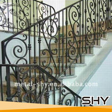 Curved Wrought Iron Stair Railings,Indoor Wought Iron Hand Railings