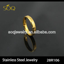 fashionable stainless steel ring gear gold jewelry