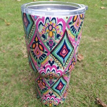 DOMIL Lilly Pulitzer Powder Coated Tumbler Stainless Steel Turkish Coffee cups DOM107370