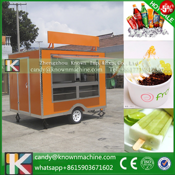 ice cream kiosk with 2.8m with advertising board ice cream kiosk for sale