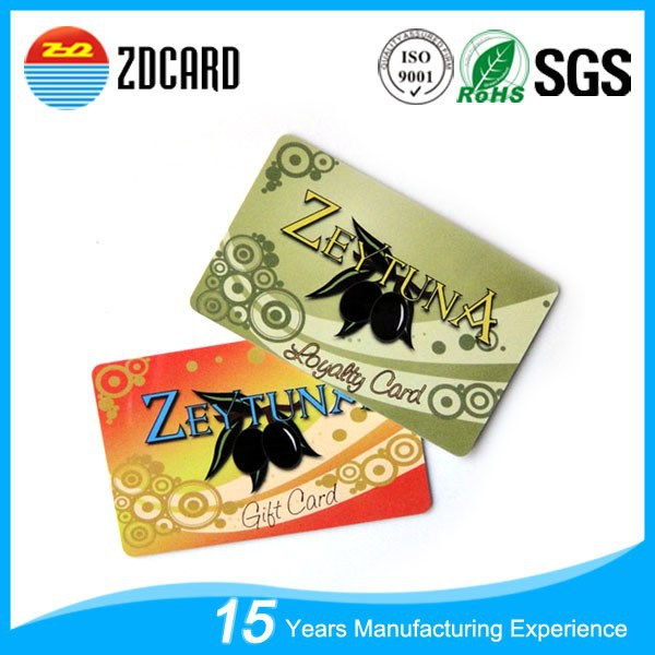 125khz contactless membership vip rfid smart card