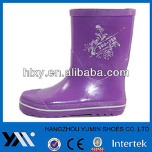 Supportive inside hign quality insole kids rain boot with handle