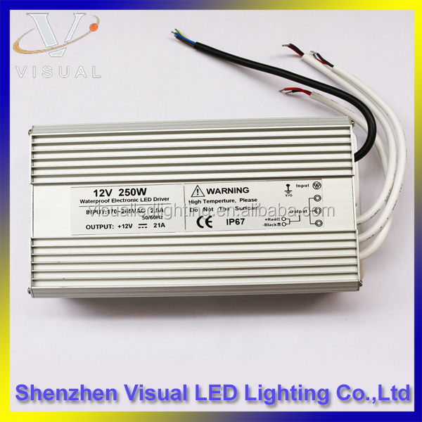 250W Constant current led driver 12v,waterproof led driver