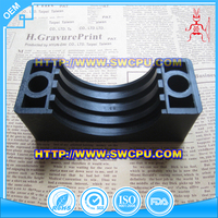 Moulded PVC plastic clip and fastener for Tube