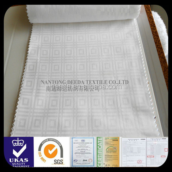 hotel bed sheetting fabric 100% cotton bleached and mercerized