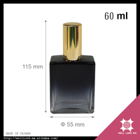 Best ideas 60ml famous glass perfume sample woman black bottle