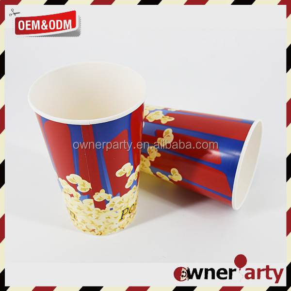 Custom Popcorn Bowl Large Plastic Container, Reusable Tub Movie Theater Bucket