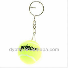 Felt & Rubber Tennis Ball Keychain
