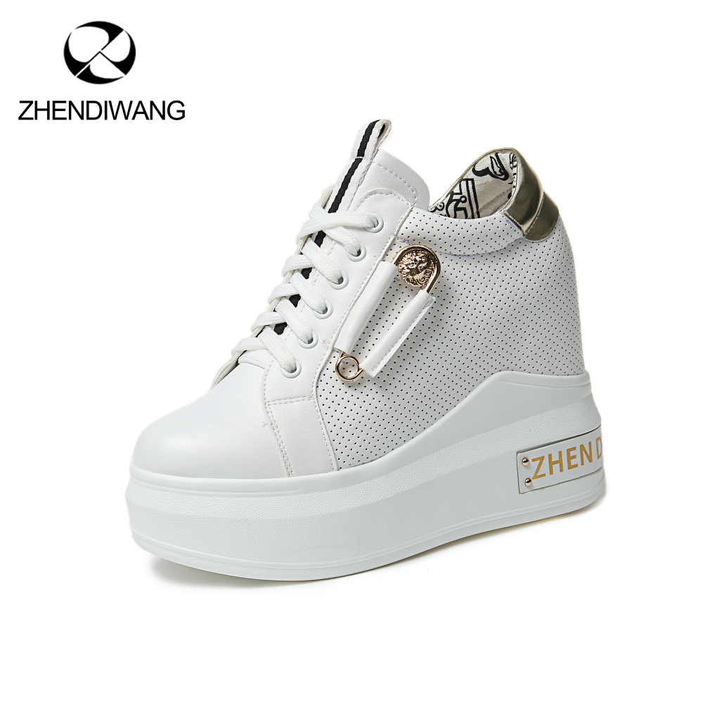 ZHENDIWANG Staple hidden wedge high heel women shoes