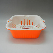 colander and salad bowl deep fryer basket penny tray strain rinse