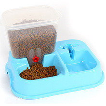 Dog Cat Automatic Pet Feeder with Pet Food Storage Container and Pet Water Bottle Jack
