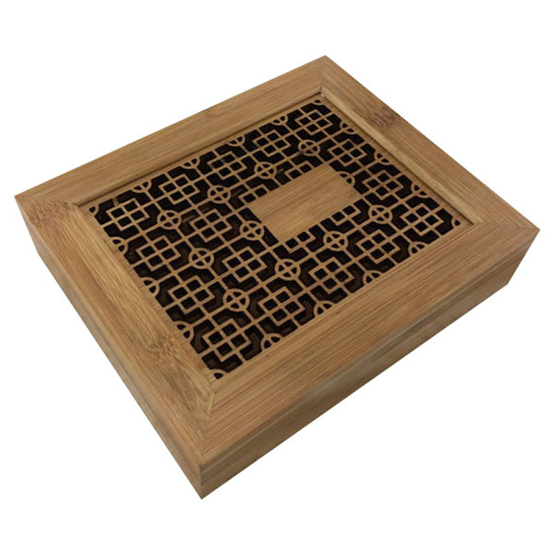 Eco-Friendly laser engraved thailand bamboo box with manufactor price