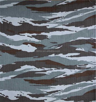 600D polyester camouflage printed oxford fabrics for Military bags with PVC backing