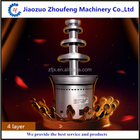 Chocolate 4 Tiers Commercial Chocolate Fountain Machine (Whatsapp:0086 13782855727)