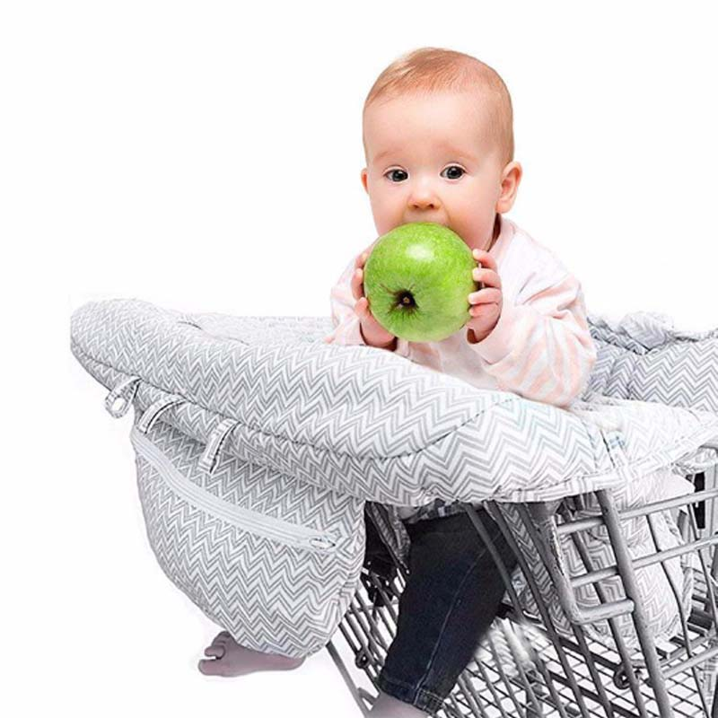 2-in-1 Infant Shopping Cart Cover High Chair Cover for <strong>Baby</strong>